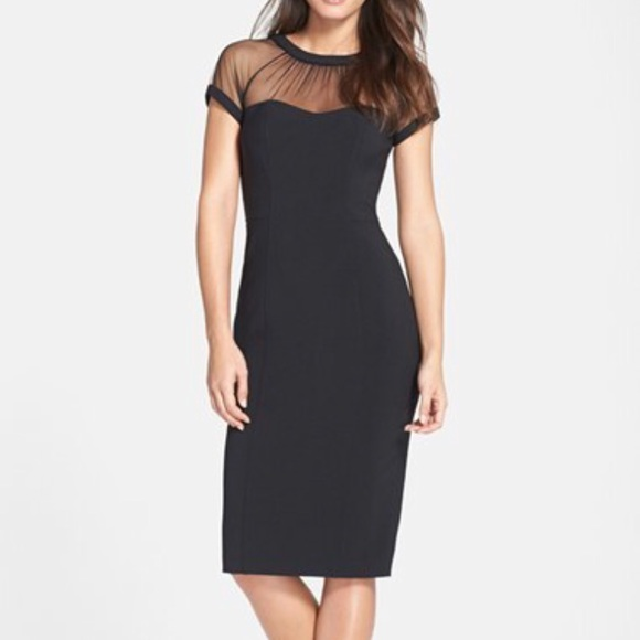 527ad82d Maggy London Dresses & Skirts - Maggy London Illusion Yoke Crepe Sheath  Dress